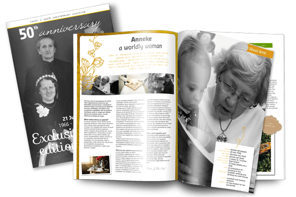 create a wedding anniversary gift magazine jilster