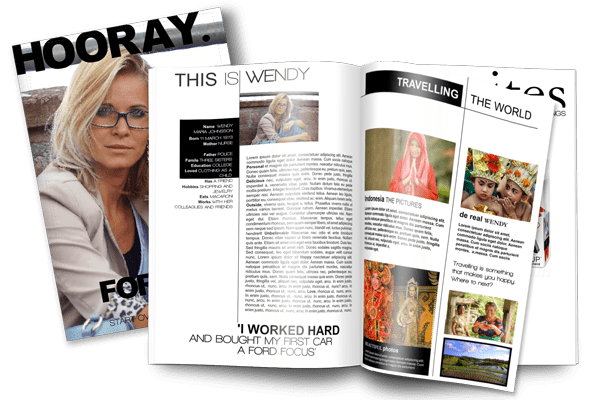 create a birthday gift magazine jilster