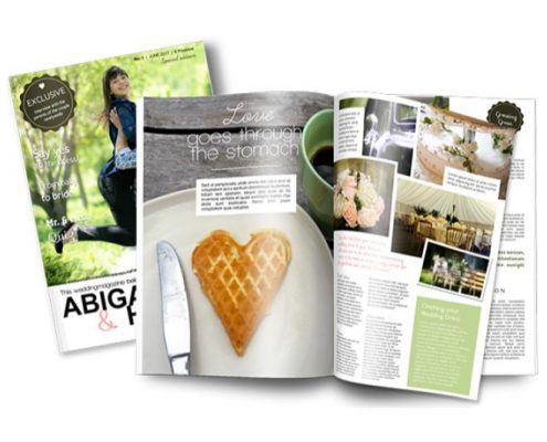 New magazine template for a special wedding gift