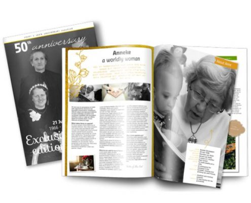 New wedding anniversary magazine template