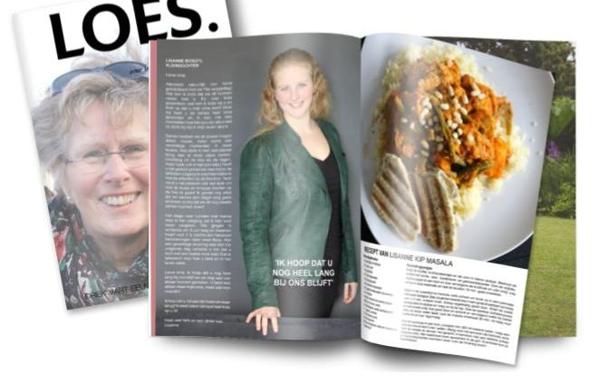 Tijdschrift verjaardag Loes birthday gift magazine grandmother everything