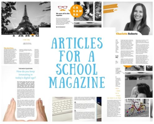 article for school magazine make your own magazine with jilster
