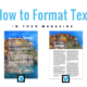 how to format text in your magazine jilster