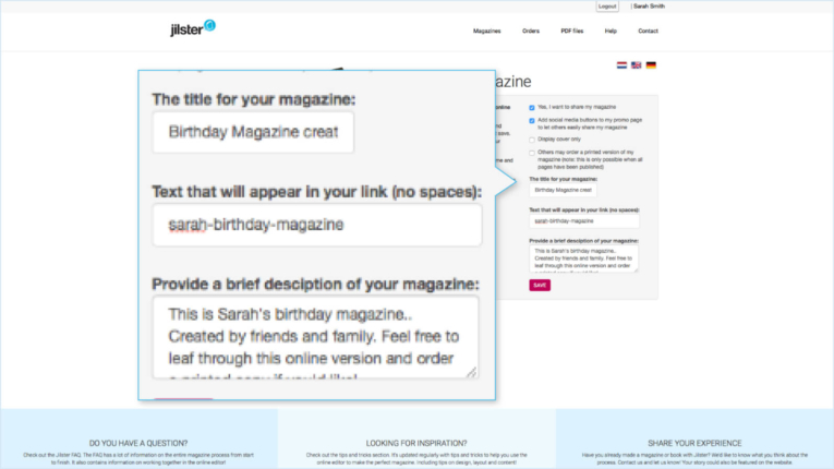 Jilster Guide and FAQ 1.9.3 Share online magazine