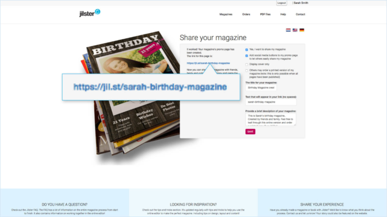 Jilster Guide and FAQ 1.9.4 Share online magazine