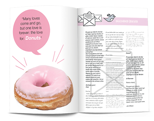 how to create personalised adverts make your own magazine 1 donut example