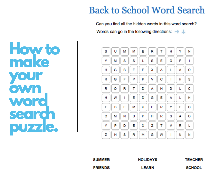 Create your own custom word search jilster for Create your own word search template