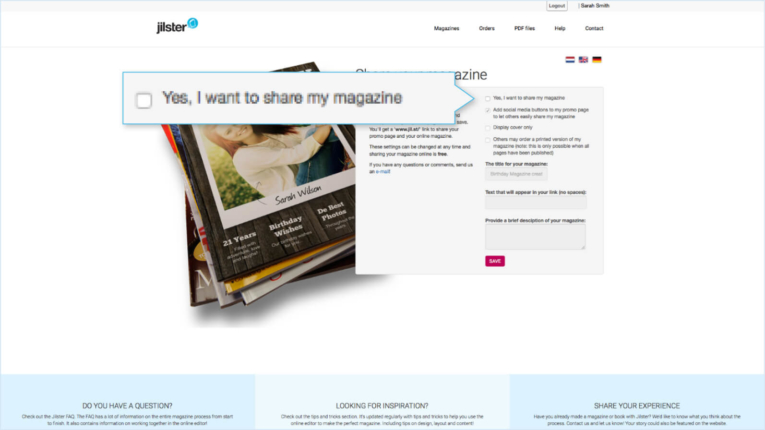 Jilster Guide and FAQ 1.9.2 Share online magazine