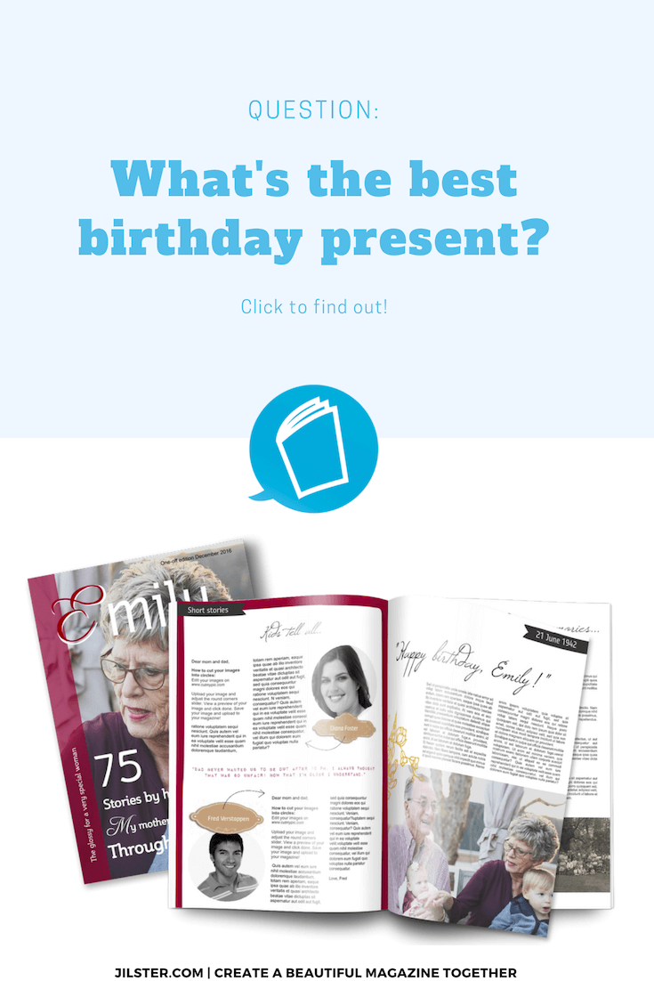 best birthday present magazine pinterest